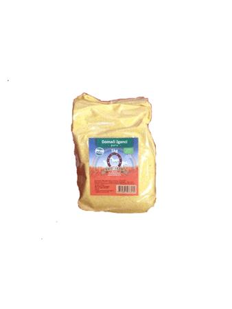Eko Jazbec domači koruzni žganci v prozorni plastični embalaži, 1kg.