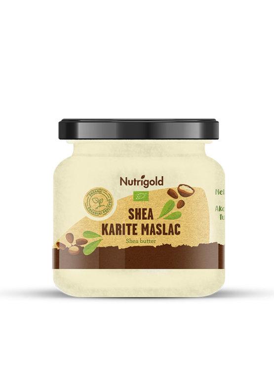 Nutrigold ekološki Karite Shea maslo v kozarcu.
