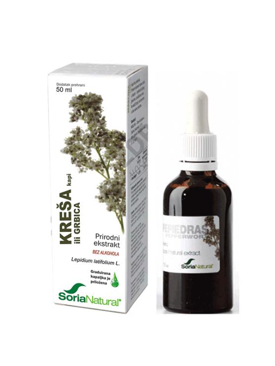 Soria Natural naravni izvleček kreše v steklenički, 50ml.