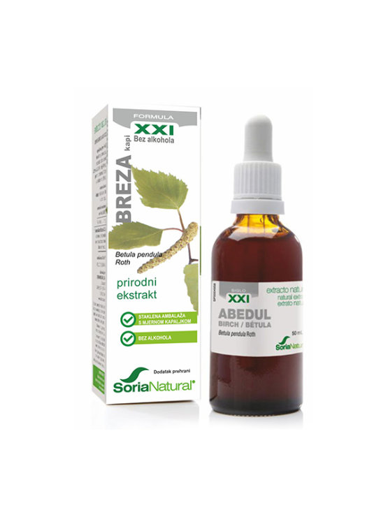 Soria Natural kapljice z naravnim brezovim izvlečkom v steklenički, 50ml.